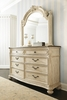 American Drew - Jessica Mcclintock-The Boutique Collection Dresser and Mirror - White Veil Finish  - 217-130W_021W
