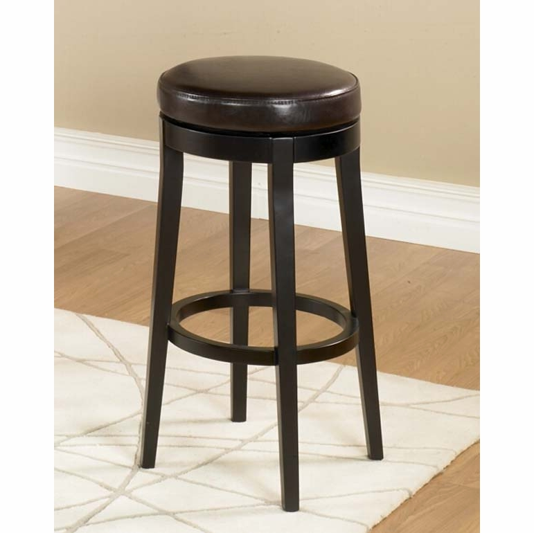 Armen Living 30inch Backless Swivel Barstool Brown Lc450babc30