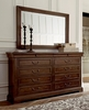 Art Furniture - St. Germain Drawer Dresser with Landscape Mirror - 215130-1513_215120-1513