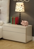 Athome USA - Athens Night Stand in White High Gloss Finish - ATHNW
