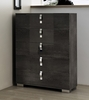 Athome USA - Sarah 5/Drawer Chest in Grey Birch Lacquer Finish - SABGRCM02