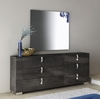 Athome USA - Sarah 6/Drawer Double Dresser and Mirror in Grey Birch Lacquer Finish - SABGRCM01_SABGRSP01