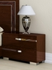 Athome USA - Volare 2/Drawer Night Table in Walnut Lacquer Finish - VOBNOCD01