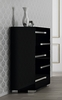 Athome USA - Volare 5/Drawer Chest in Black Lacquer Finish - VOBBLCM02