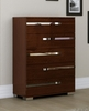 Athome USA - Volare 5/Drawer Chest in Walnut Lacquer Finish - VOBNOCM02