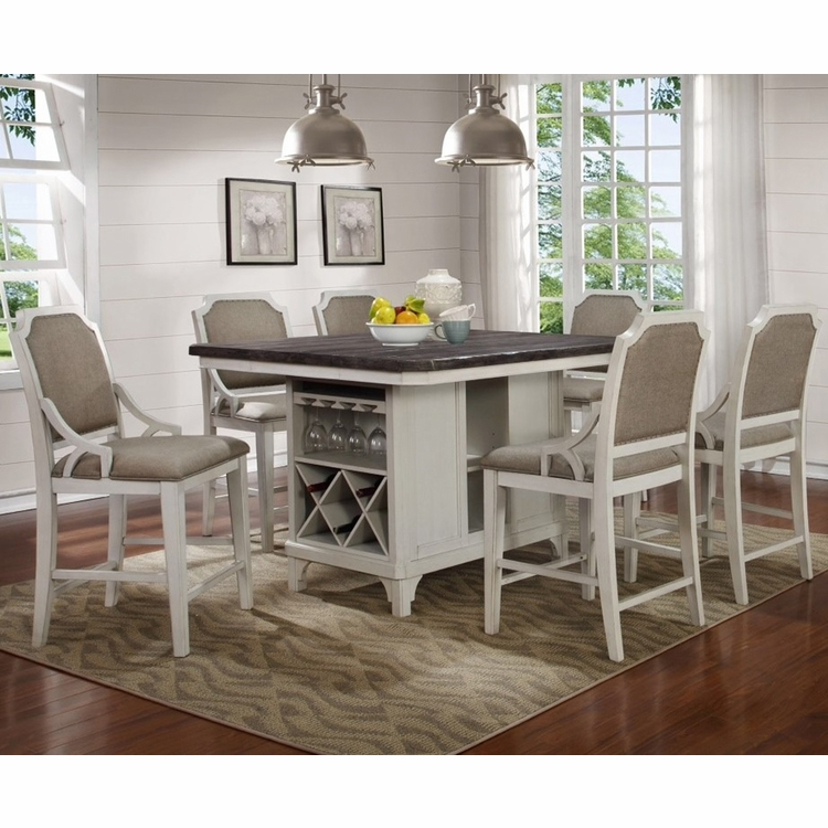 Avalon - Mystic Cay Kitchen Island With 6 Gathering Chairs - D00042-KIB_KIT_GC_GC_GC