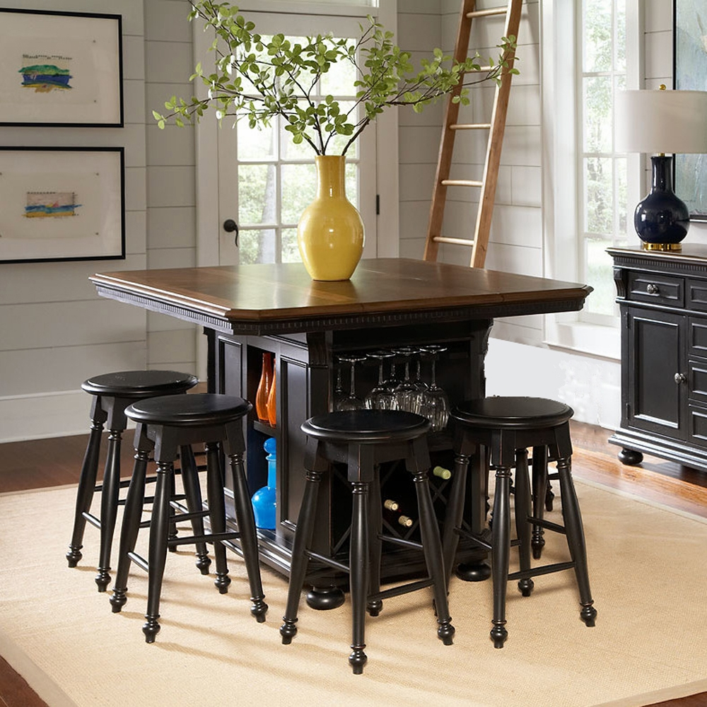 Avalon rivington hall kitchen island w 4 stools - Kitchen island with stools ...