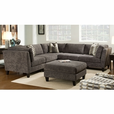 Exceptionnel Bauhaus   Mcgraw Sectional With Bump Ottoman   629A955_955_955_945_945_985
