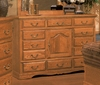 Bebe Furniture - Country Heirloom 12 Drawer Master Dresser W/Shelf  - 515N/C