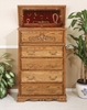 Bebe Furniture - Country Heirloom 5 Drawer Safe Top Chest - 501