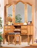 Bebe Furniture - Country Heirloom Vanity Base with Heirloom Mirror - 519
