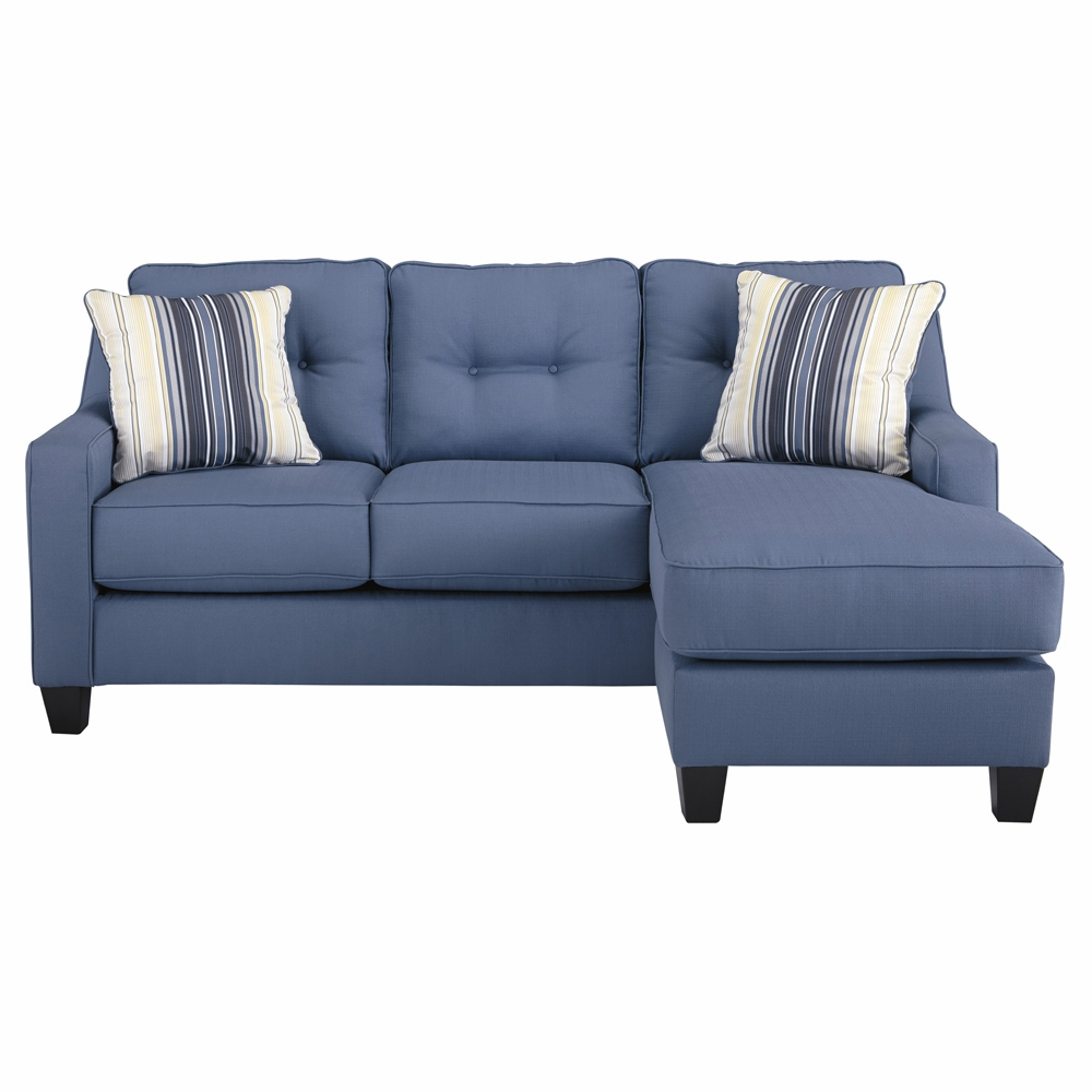 Fine Benchcraft Aldie Nuvella Sofa Chaise In Blue 6870318 Gmtry Best Dining Table And Chair Ideas Images Gmtryco