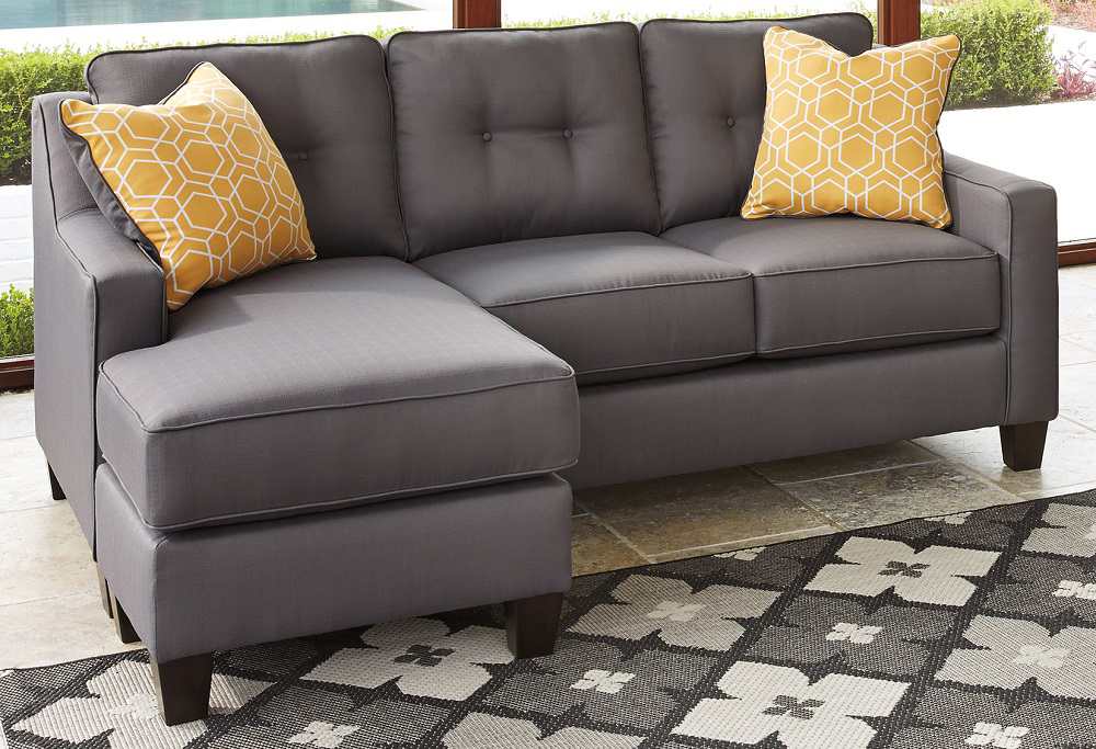 Pleasing Benchcraft Aldie Nuvella Sofa Chaise In Gray 6870218 Gmtry Best Dining Table And Chair Ideas Images Gmtryco