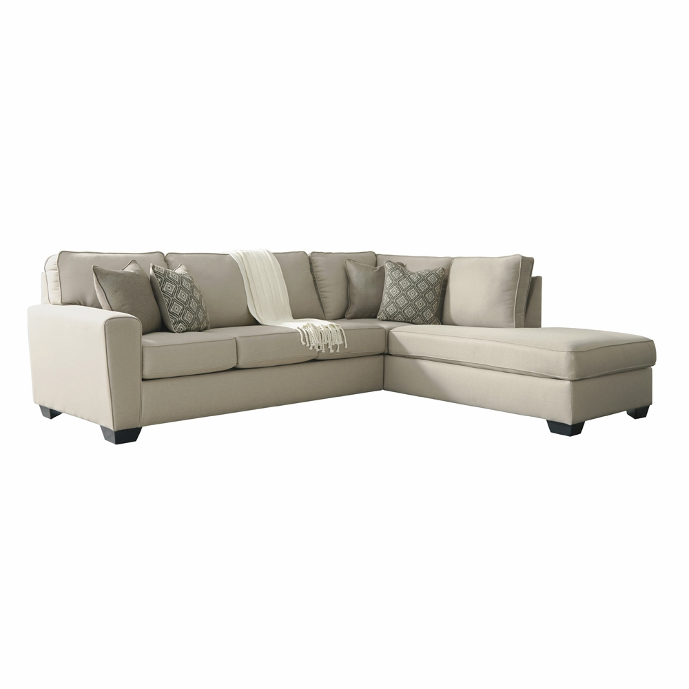 Awesome Benchcraft Calicho 2 Piece Sectional With Raf Corner Chaise Uwap Interior Chair Design Uwaporg