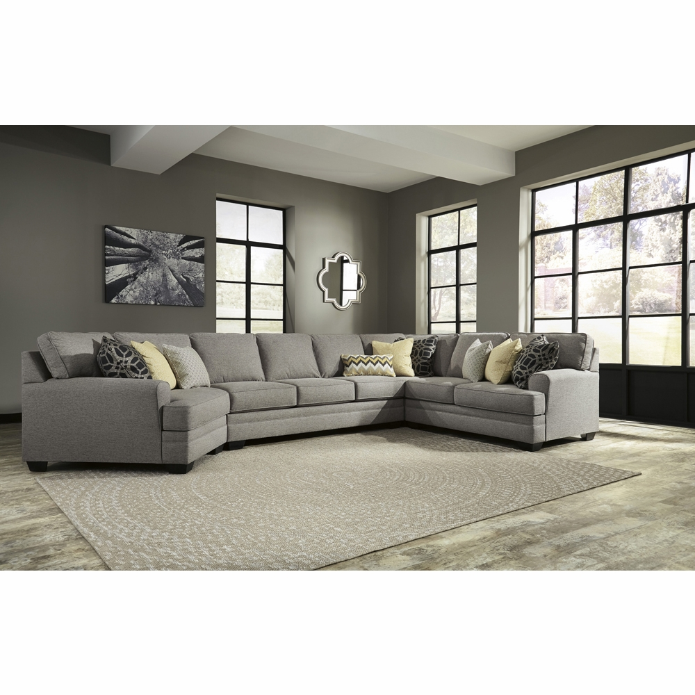 Benchcraft Cresson 4 Piece Sectional With Raf Loveseat