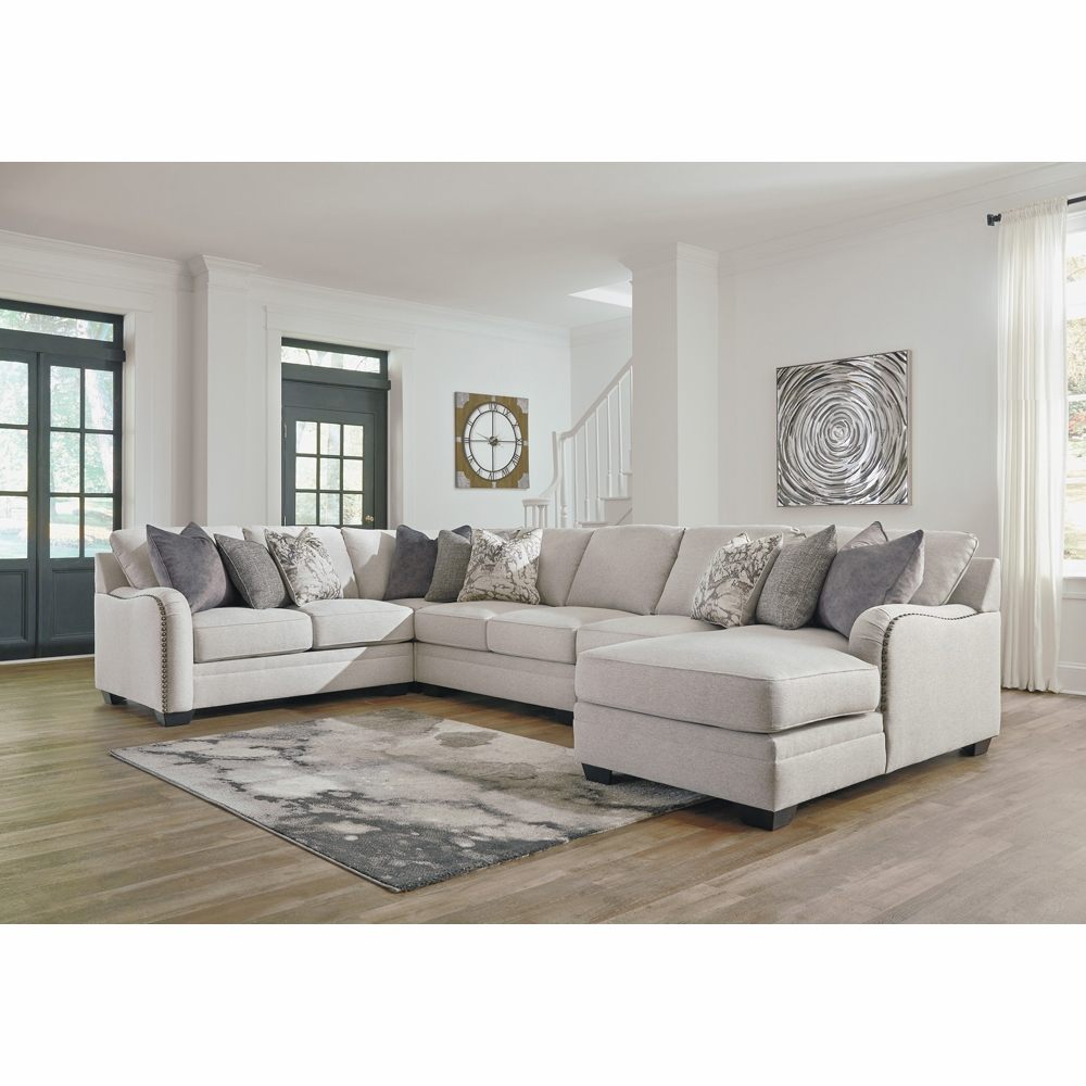 timeless design b151f 7b0a0 Benchcraft - Dellara 5-Piece Sectional with RAF Corner Chaise