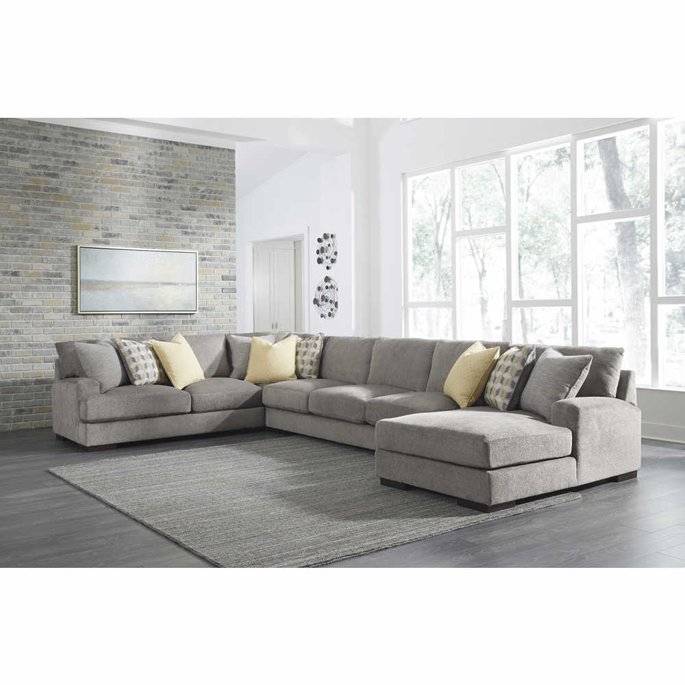 Benchcraft Fallsworth 4 Piece Sectional With Raf Corner Chaise
