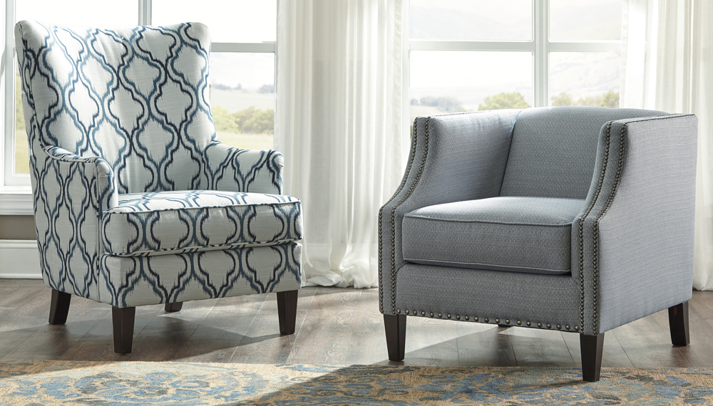 Cool Benchcraft Lavernia Accent Chair In Indigo 7130421 Gmtry Best Dining Table And Chair Ideas Images Gmtryco