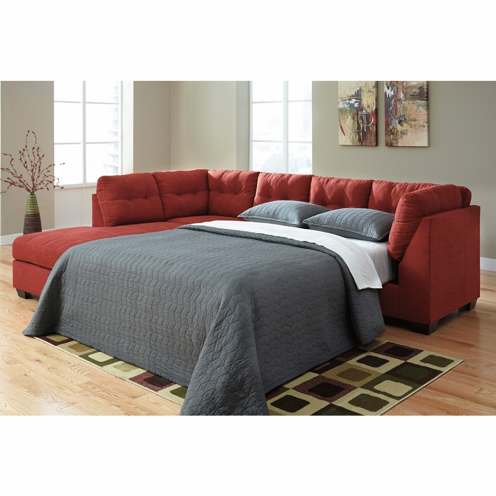 Benchcraft - Maier (Sienna) RAF Full Sofa Sleeper with LAF Corner Chaise  Sectional - 4520283_16