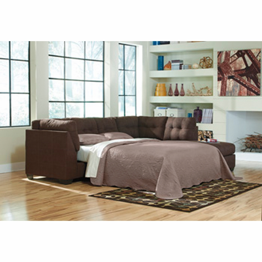 Benchcraft Maier Walnut Laf Full Sofa Sleeper With Raf