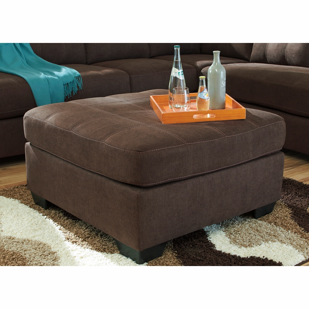 Brilliant Benchcraft Maier Walnut Oversized Accent Ottoman 4520108 Pdpeps Interior Chair Design Pdpepsorg