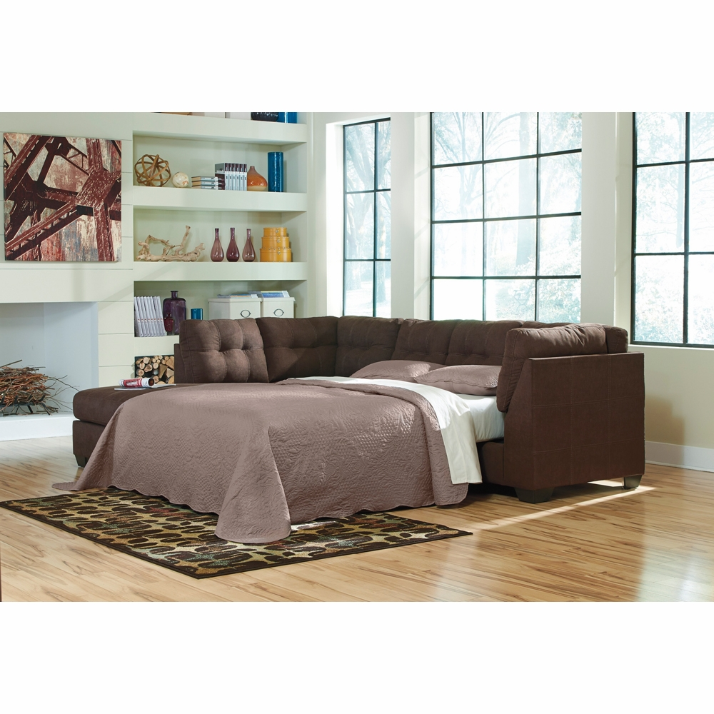 Benchcraft - Maier (Walnut) RAF Full Sofa Sleeper with LAF Corner Chaise  Sectional - 4520183_16
