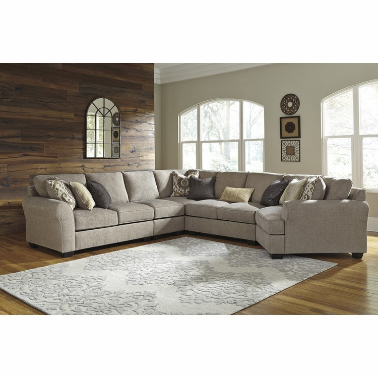 Benchcraft - Pantomine (Driftwood) 5-Piece Sectional C