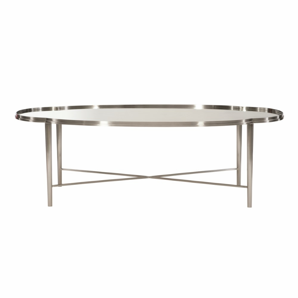 - Bernhardt - Allure Metal Oval Cocktail Table - 399013