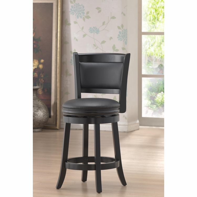 Enjoyable Boraam 24 Augusta Swivel Stool In Black 45824 Gmtry Best Dining Table And Chair Ideas Images Gmtryco