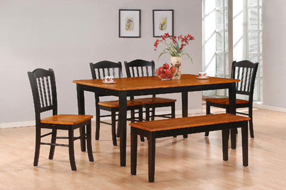 Boraam   6Pc Shaker Dining Set In Black And Oak   86536