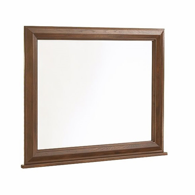 Broyhill - Attic Heirlooms Dresser Mirror With Back Supports in Rustic Oak - 4399-36
