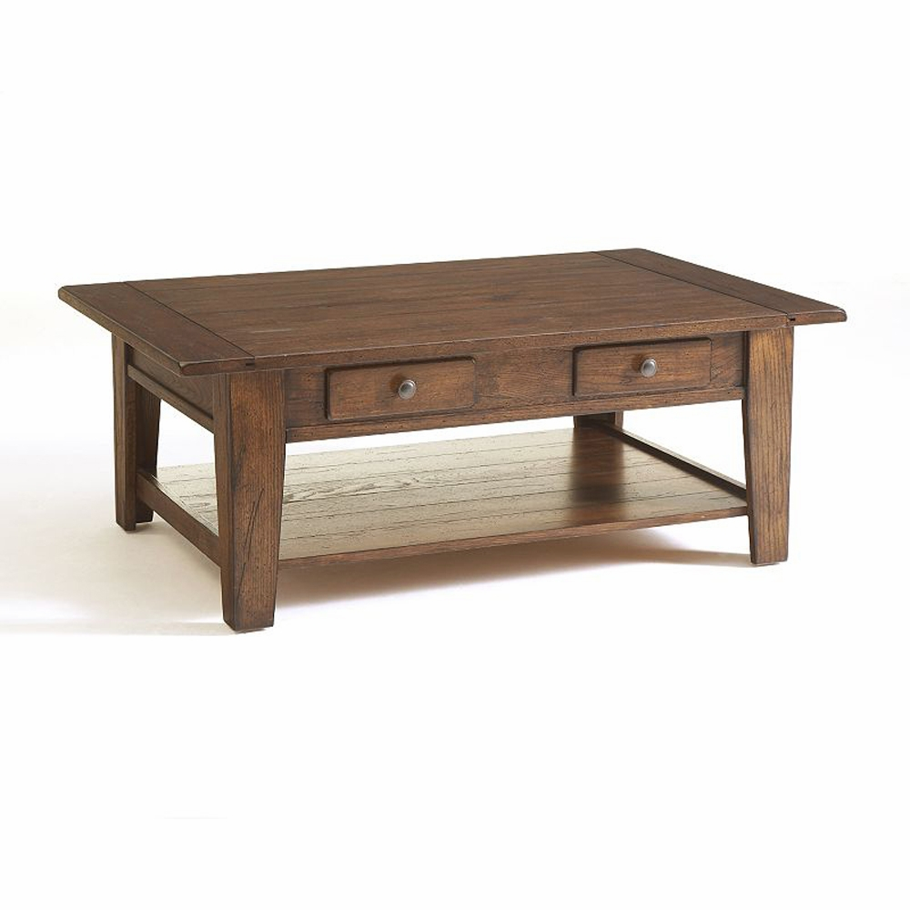 Surprising Broyhill Attic Heirlooms Rectangular Cocktail Table In Rustic Oak 3399 01V Home Interior And Landscaping Pimpapssignezvosmurscom