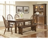 Broyhill - Attic Heirlooms Rustic Oak Finish Dining Room Set M