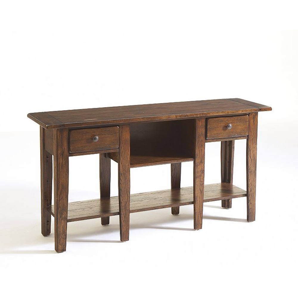 Astounding Broyhill Attic Heirlooms Sofa Table In Rustic Oak 3399 09V Home Interior And Landscaping Pimpapssignezvosmurscom