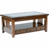 Broyhill Attic Heirlooms Round Lift Top Coffee Table In