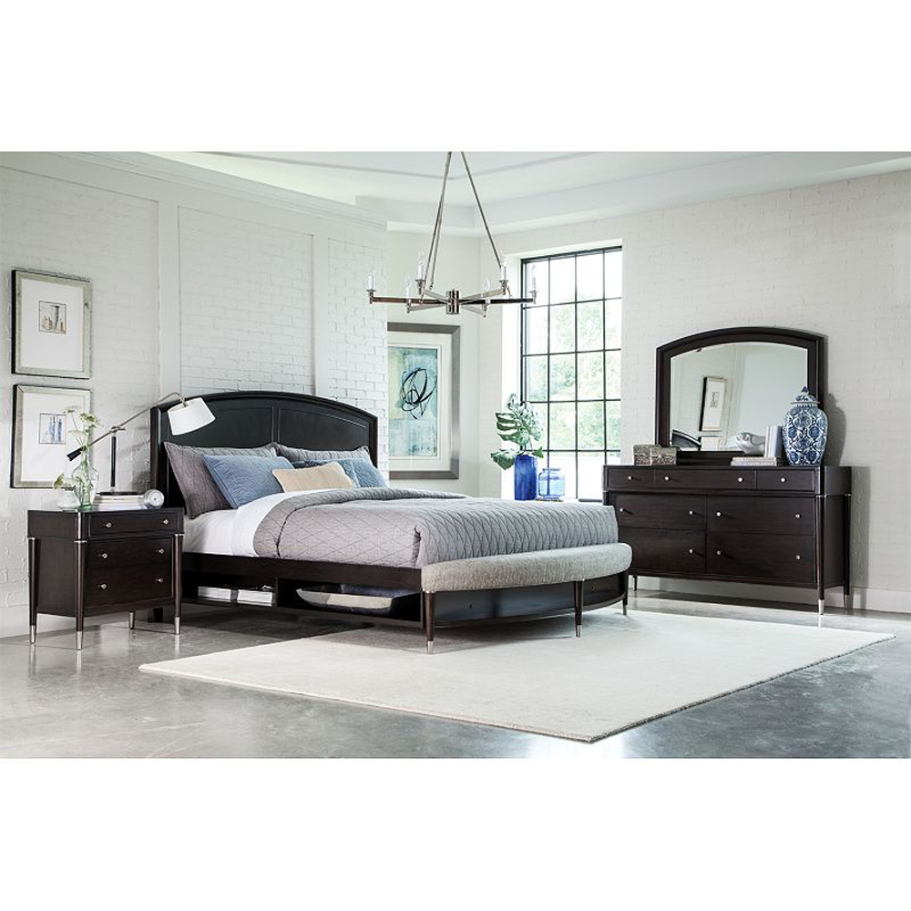 Broyhill Vibe Cal King Panel Bed With Storage And Radius