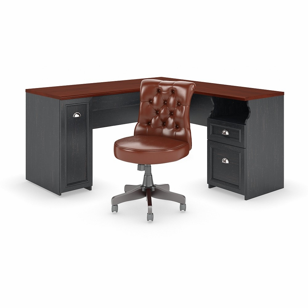 Fairview 60w L Shaped Desk With Hutch