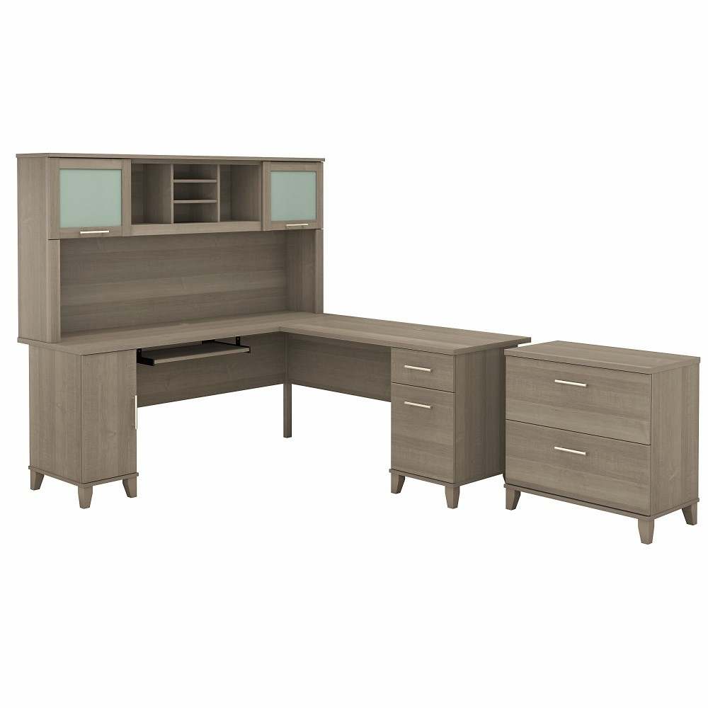 Somerset 72w L Shaped Desk With Hutch