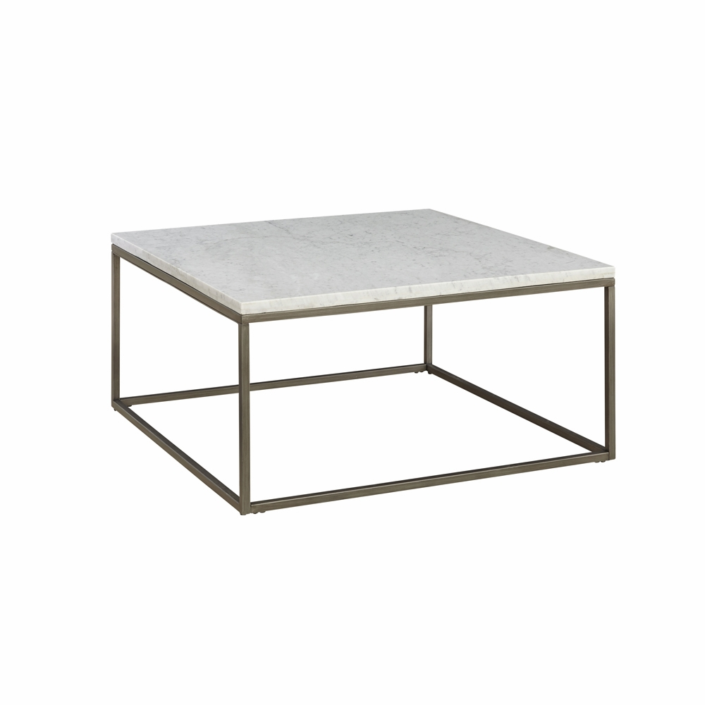 White Marble Top Coffee Table Rectangle: Julien Square Coffee Table With White Marble