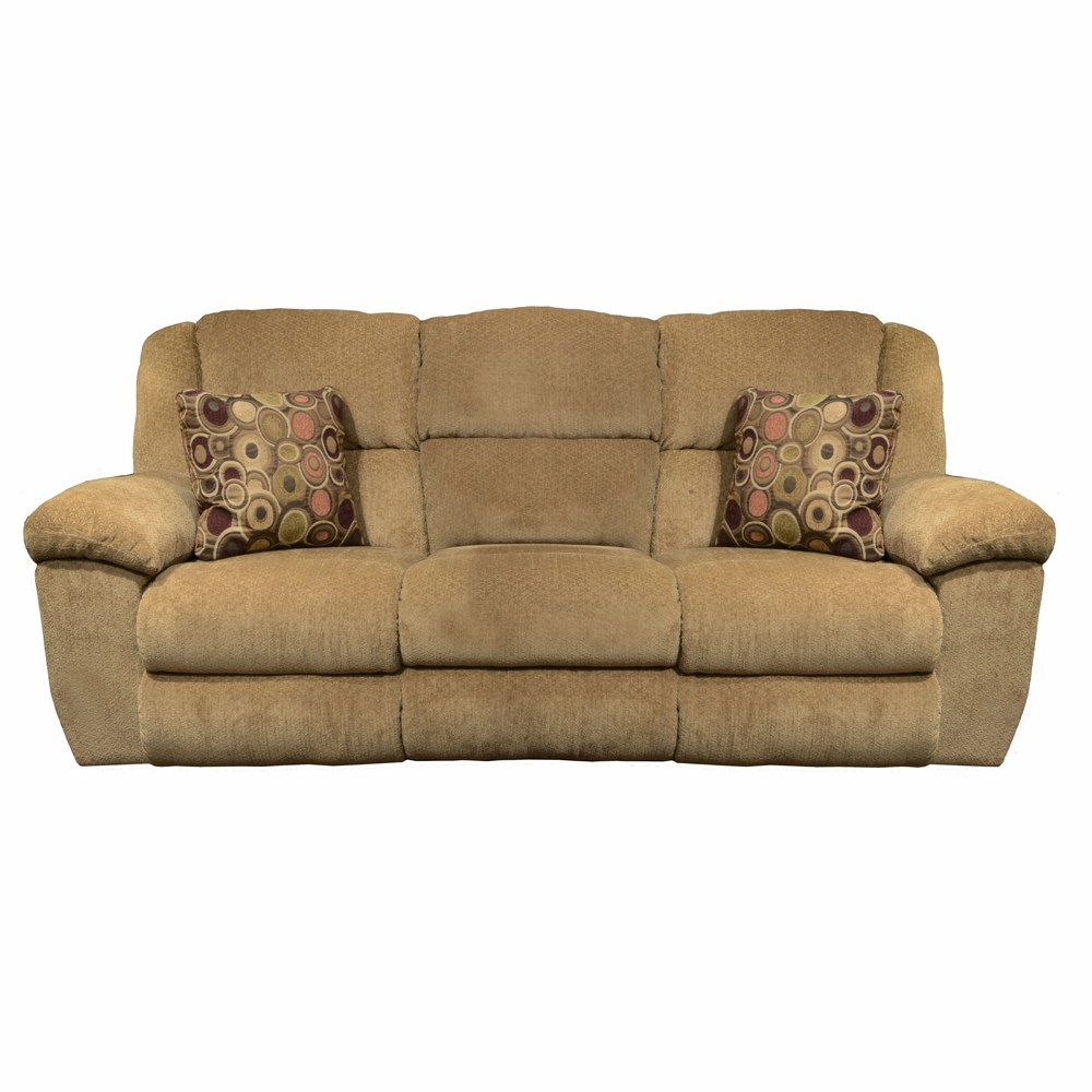 Fabulous Catnapper Transformer Beige Havana Ultimate Sofa W 3 Recliners 1 Drop Down Table 19445 Pabps2019 Chair Design Images Pabps2019Com