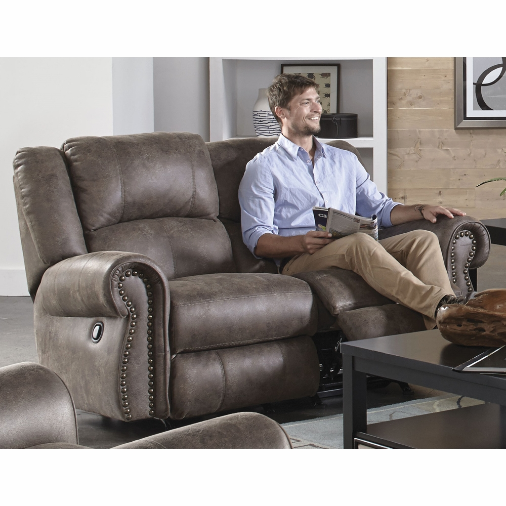 Astounding Catnapper Westin Ash Power Reclining Loveseat 61052 Machost Co Dining Chair Design Ideas Machostcouk