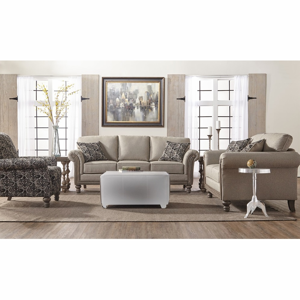 Chintaly - 3 Pieces Sofa With Love Seat And Chair - 3400-3PC