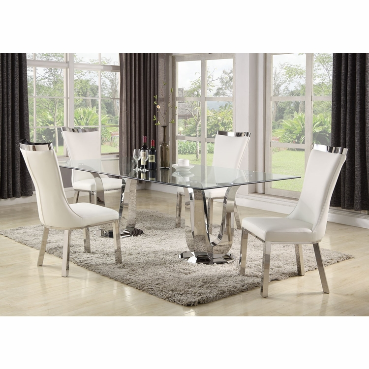 Chintaly - Adelle 5 Pieces Dining Set Table With 4 Chairs - ADELLE-5PC