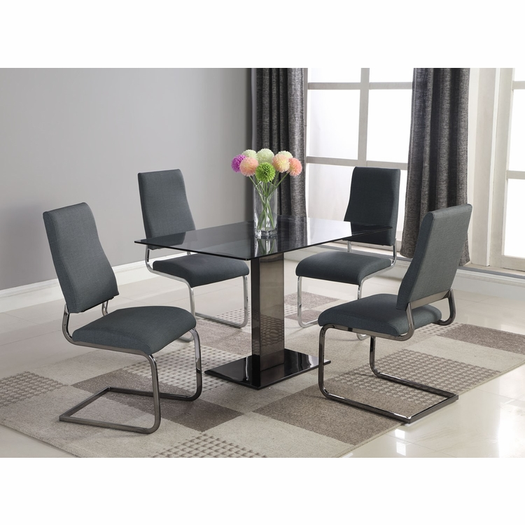 Chintaly - Alana 5 Pieces Dining Set Table With 4 Side Chairs - ALANA-5PC