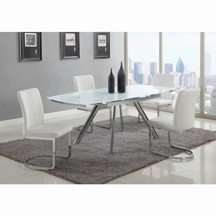 Chintaly - Alina 5 Pieces Dining Set Table And 4 Side Chairs - ALINA-5PC