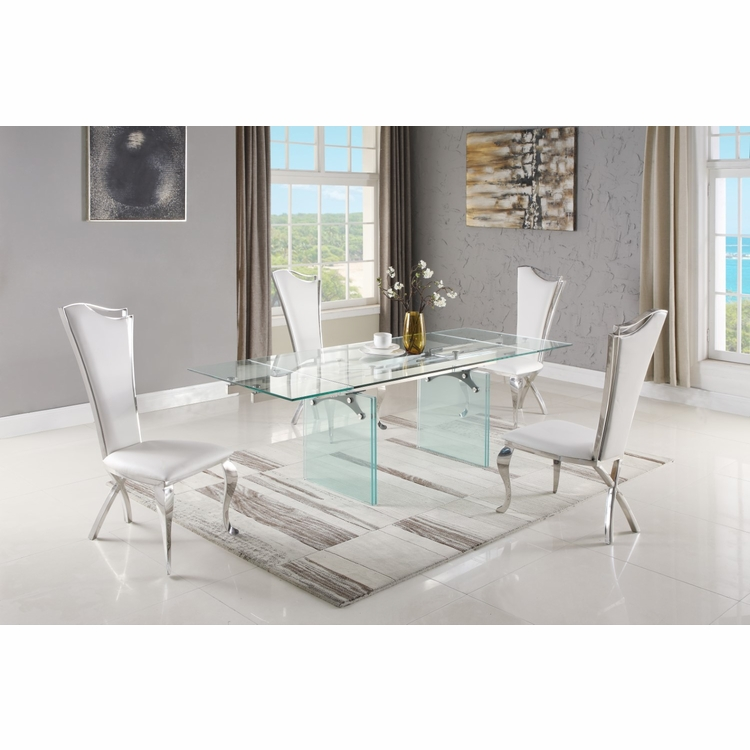 Chintaly - Annie 5 Pieces Dining Set Table With 4 Nadia Side Chairs - ANNIE-NADIA-5PC
