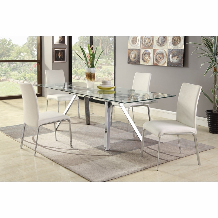 Chintaly - Ariel 5 Pieces Dining Set Table With 4 Side Chairs - ARIEL-5PC