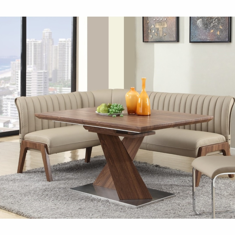 Chintaly - Bethany 2 Piece Set Dining Table And Nook - BETHANY-2PC