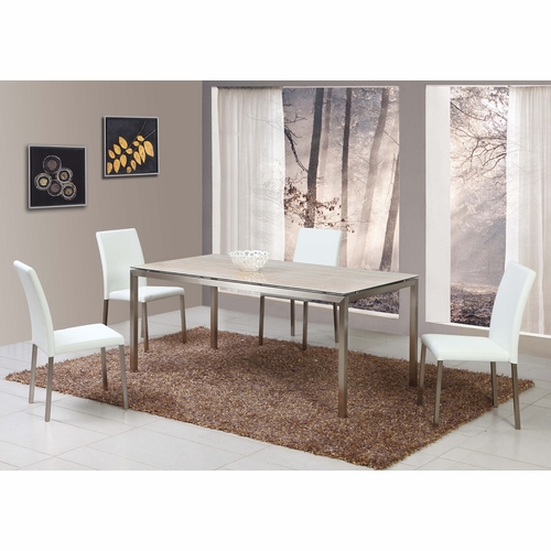 Chintaly - Claudia White 5-Piece Dining Set - CLAUDIA-WHT-5PC