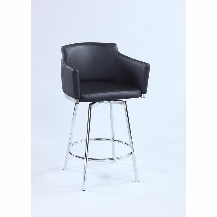 Chintaly - Club Counter Stool With Memory Swivel - DUSTY-CS-BLK